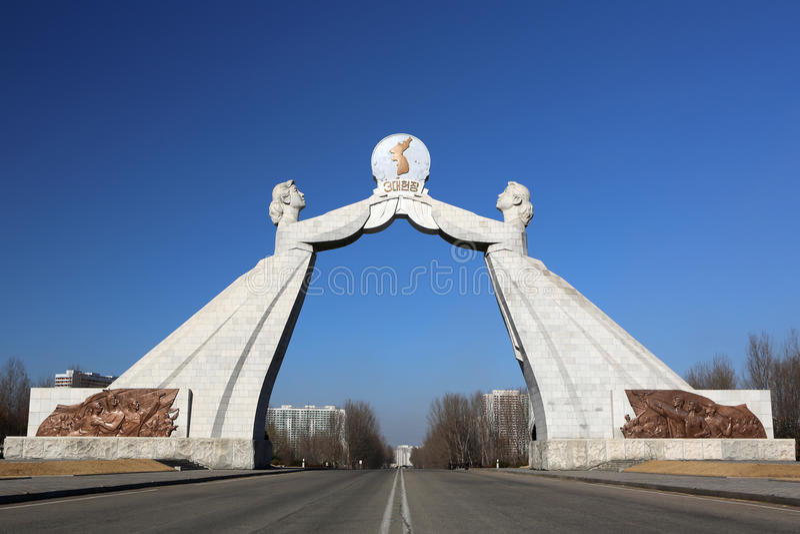 Das Wiedervereinigung-Denkmal in Pyongyang
