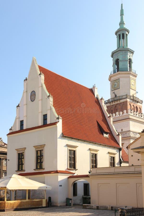 Das wiegenhaus oder wiegen Haus. Poznan. Polen lizenzfreies stockbild