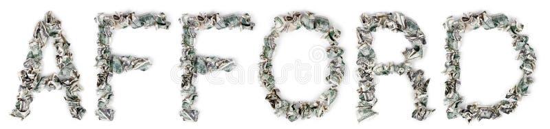 Leisten Sie Sich - Quetschverbundene Rechnungen 100$ Stockfotos