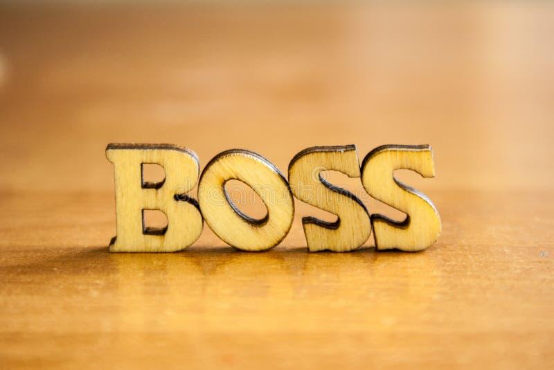 Das Wort ` Chef ` stockfoto