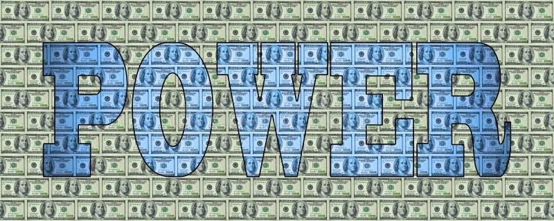 Das Wort ENERGIE auf einem Hintergrund von Dollar lizenzfreies stockbild