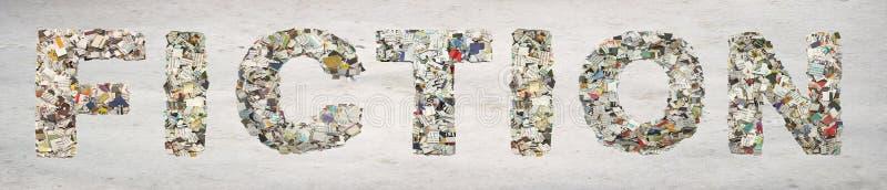 Das Wort FIKTION gemacht von der Zeitung stockfotos