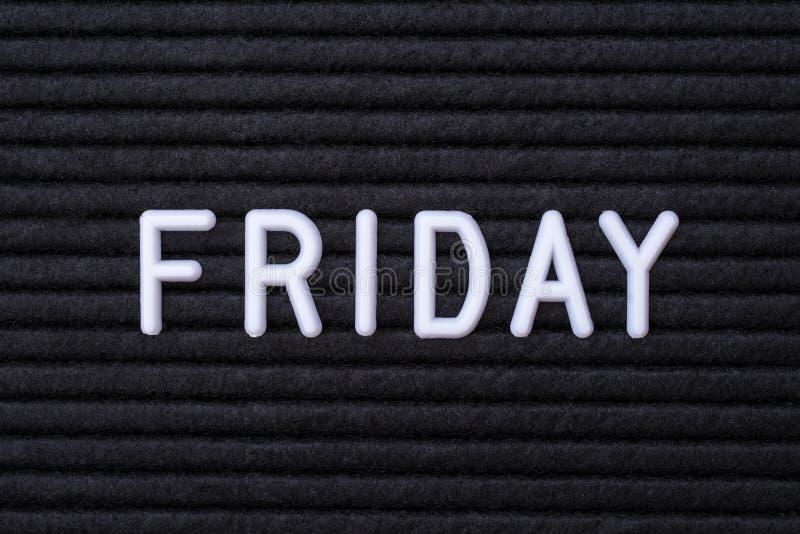 Das Wort Freitag lizenzfreie stockfotografie