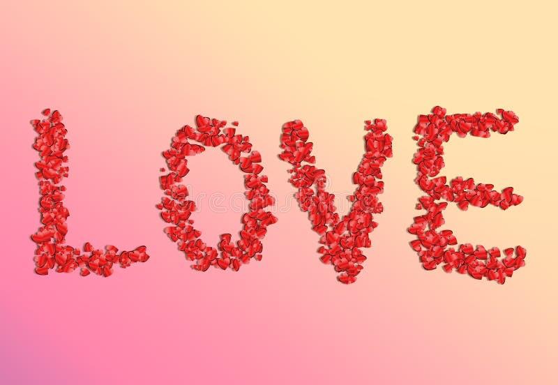 Das Wort ist Liebe. vektor abbildung
