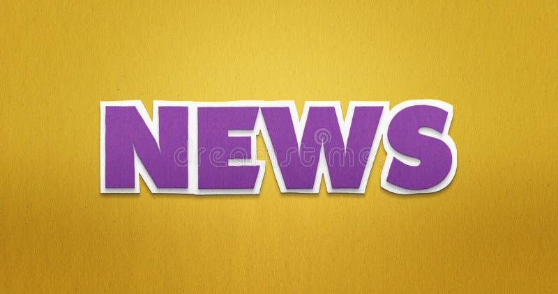 Das Wort ` Nachrichten ` in einem modernen Papierblick stockfoto
