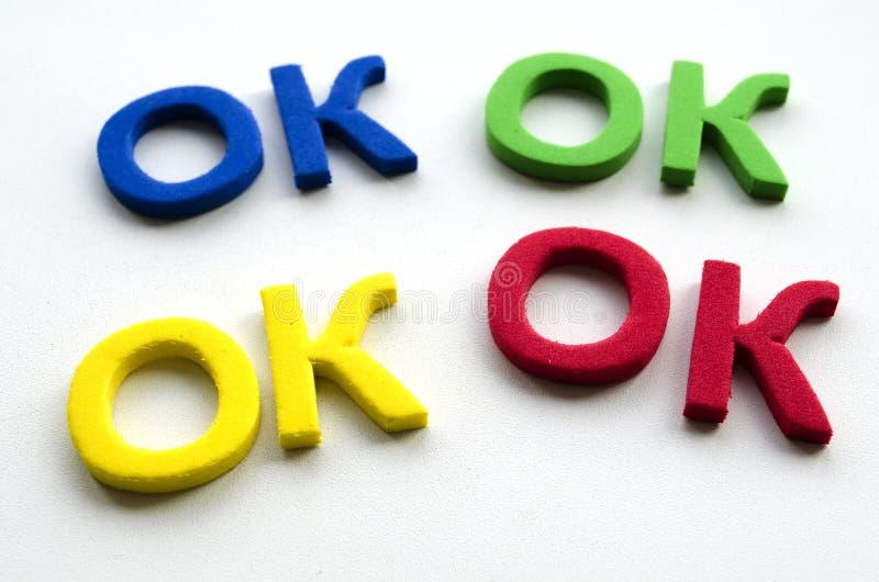 Das Wort O.K., Das Durch Farbige Buchstaben Geschrieben Wird ...