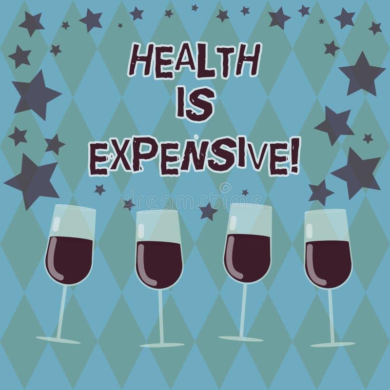 Das Wort, das Text Gesundheit schreibt, ist teuer Geschäftskonzept für mach's- gutKörper essen gesunden Spielsport, die gefüllte  stock abbildung