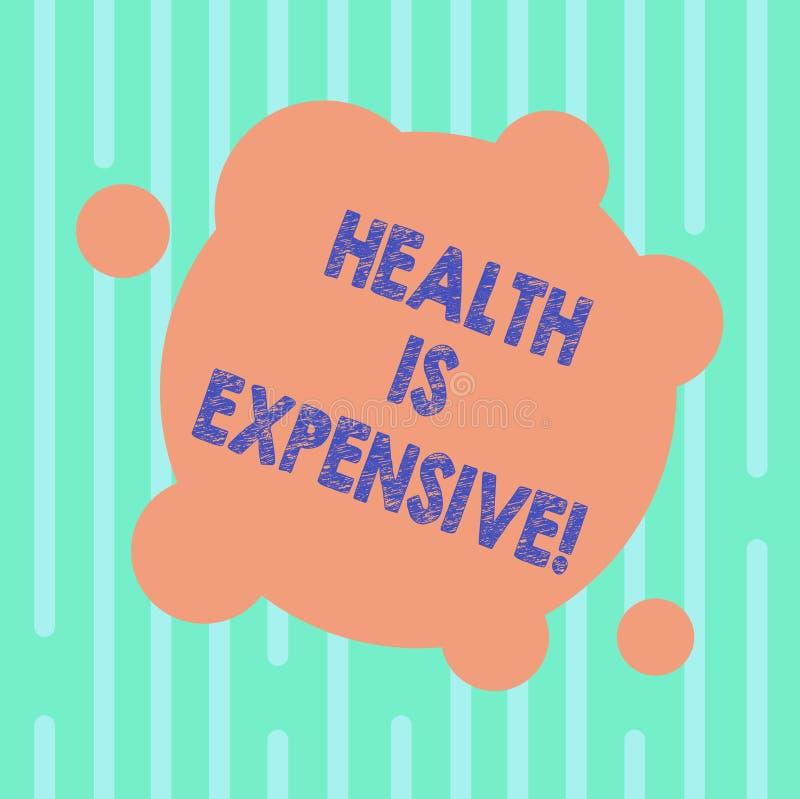 Das Wort, das Text Gesundheit schreibt, ist teuer Geschäftskonzept für mach's- gutKörper essen gesunden Spielsport, Verletzung fr lizenzfreie abbildung