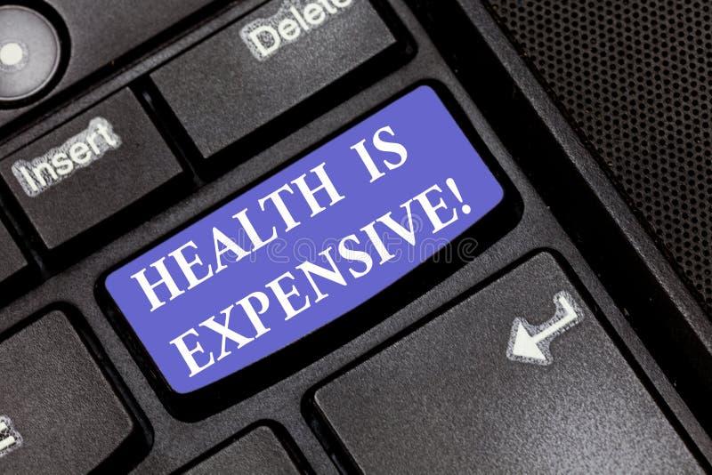 Das Wort, das Text Gesundheit schreibt, ist teuer Geschäftskonzept für mach's- gutKörper essen gesunden Spielsport, Verletzung zu stock abbildung