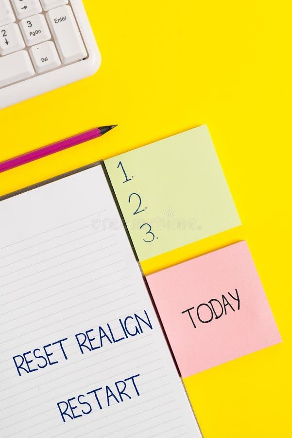 Das Wort, das Text Zurückstellen schreibt, richten Wiederanlauf aus Geschäftskonzept für Lebenrechnungsprüfung hilft Ihnen, Sache stockfotografie