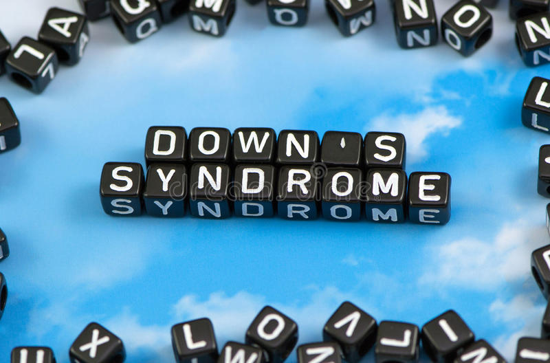 Das Wort unten ` s Syndrom lizenzfreies stockbild