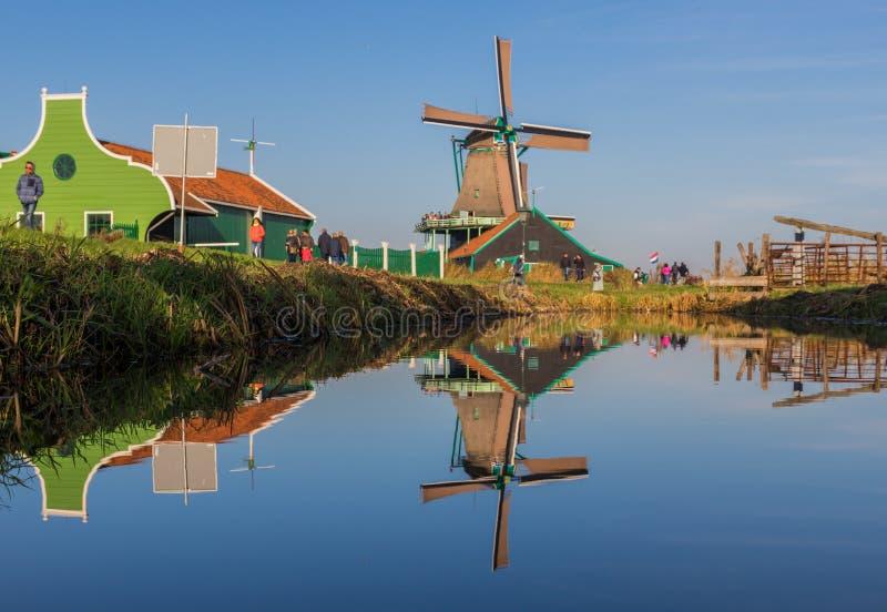 Das wunderbare Dorf von Zaanse Schans, Netherland lizenzfreies stockfoto