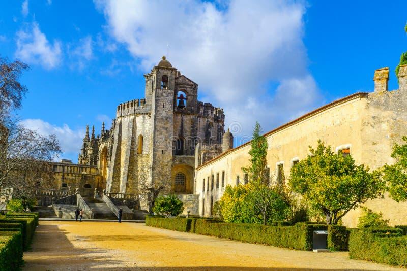 Das Yard des Klosters von Christus, in Tomar lizenzfreies stockfoto