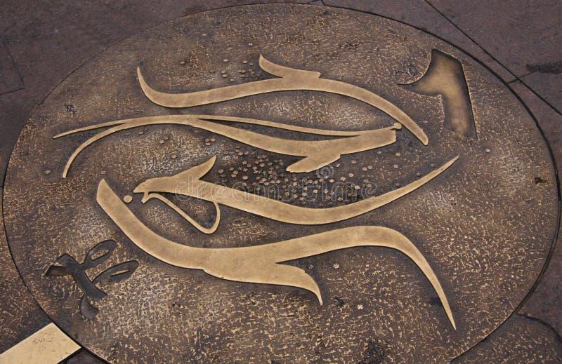 Das Zeichen des Tierkreises. Fische stockfotografie