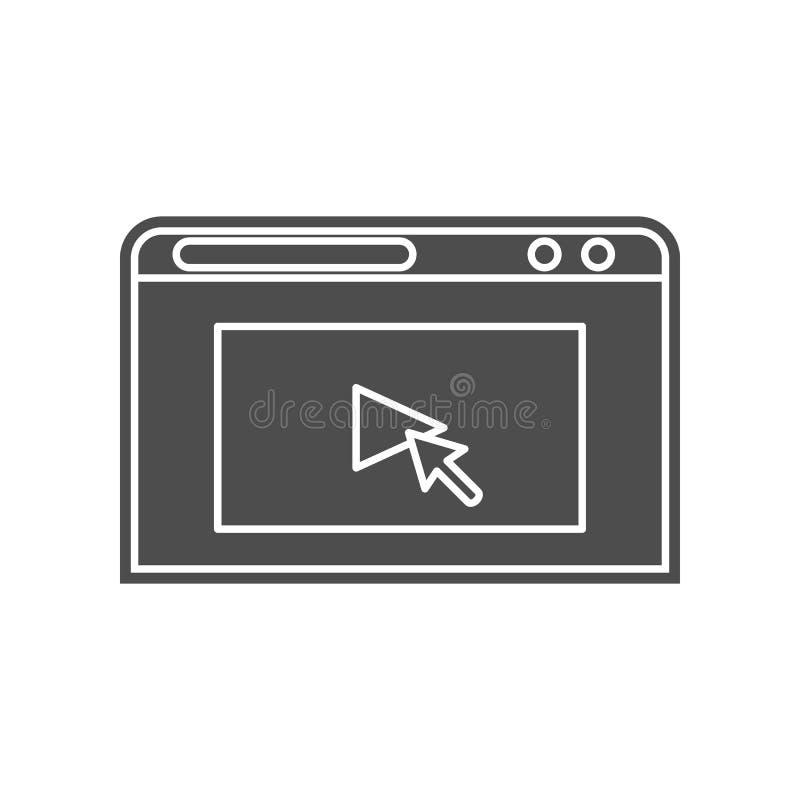 das Zeichen ist kleinere Ikone Element von minimalistic f?r bewegliches Konzept und Netz Appsikone Glyph, flache Ikone f?r Websit vektor abbildung