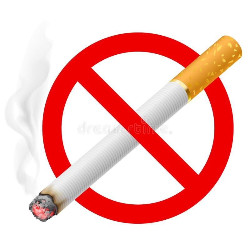 Das Zeichen Nichtraucher lizenzfreie abbildung