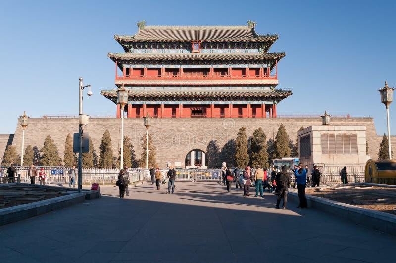 Das Zhengyangmen-Tor. Beinjing. China lizenzfreies stockbild