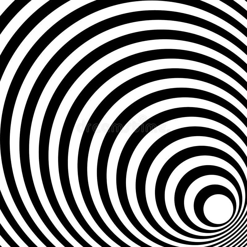 Das Zusammenlaufen, ausstrahlend zeichnet abstraktes einfarbiges Muster in squar vektor abbildung