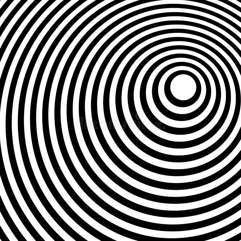 Das Zusammenlaufen, ausstrahlend zeichnet abstraktes einfarbiges Muster in squar lizenzfreie abbildung
