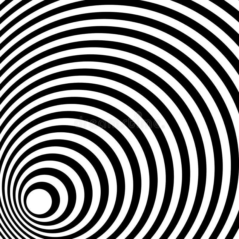 Das Zusammenlaufen, ausstrahlend zeichnet abstraktes einfarbiges Muster in squar stock abbildung