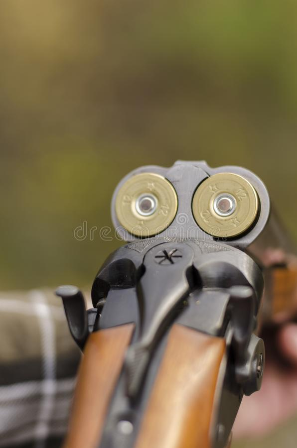 Das Zwölfmessgerätgewehr stockfotos