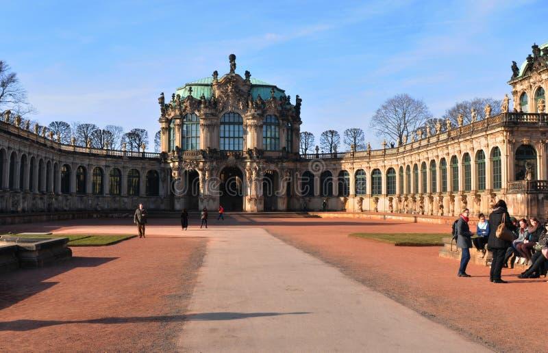 Das Zwinger in Dresden-Stadt geh?rt wichtigsten sp?ten barock Germany?s Geb?uden lizenzfreies stockbild