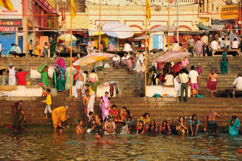 dasaswamedh ghat Varanasi obraz stock