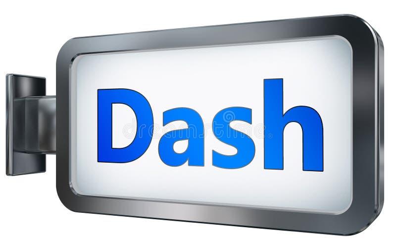 Dash on billboard background. Dash wall light box billboard background , isolated on white royalty free illustration