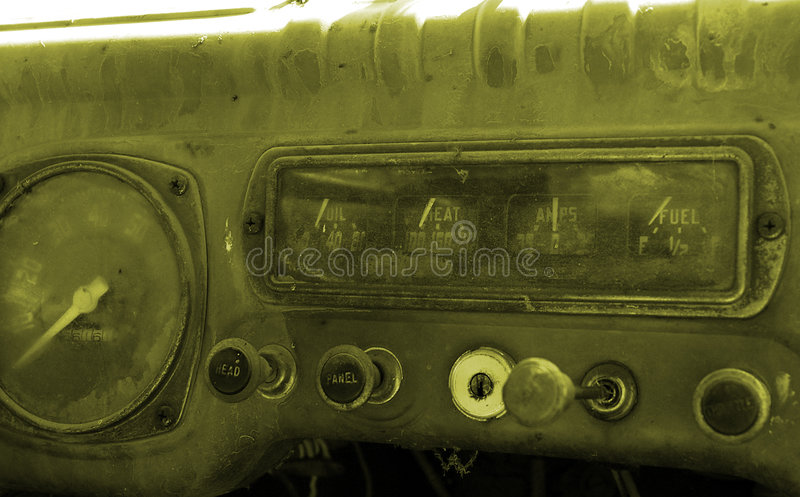 Download Dash board stock image. Image of vintage, dials, gages - 726403