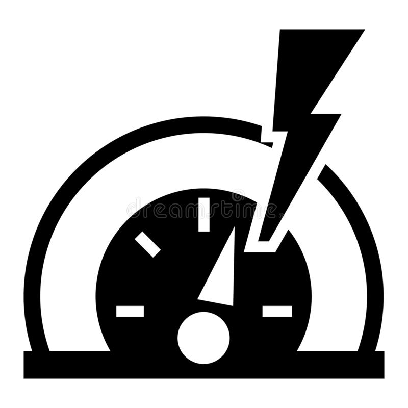 Dash board energy icon, simple style. Dash board energy icon. Simple illustration of dash board energy vector icon for web design isolated on white background stock illustration