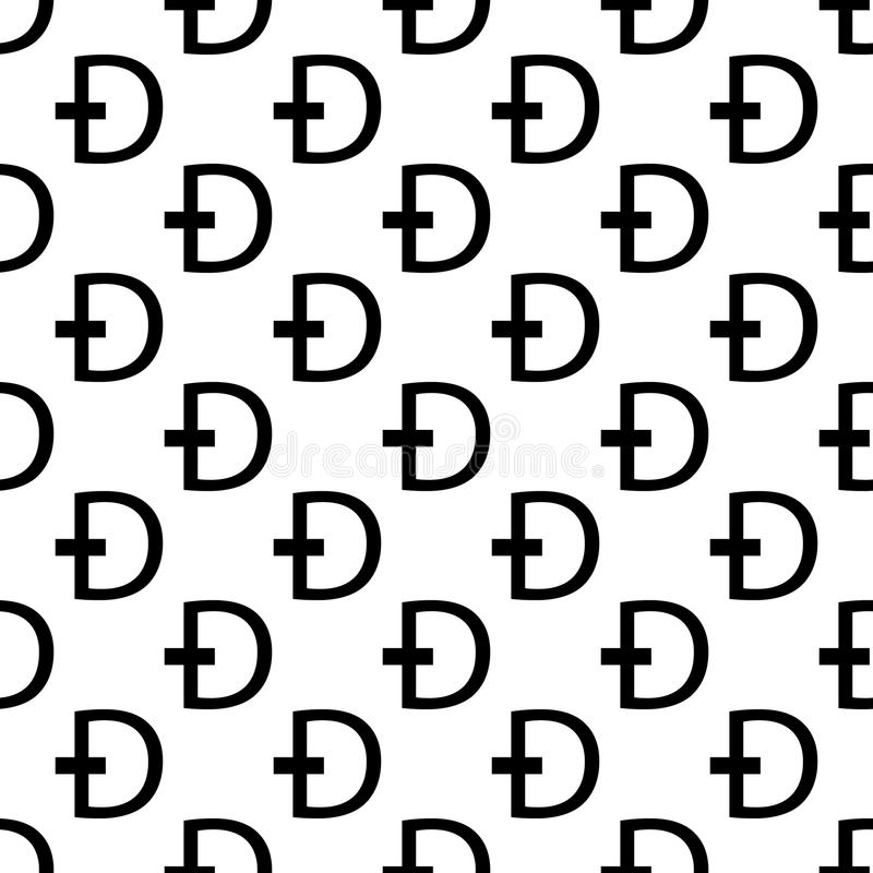 Dash coin icon in Pattern style. On white background stock illustration