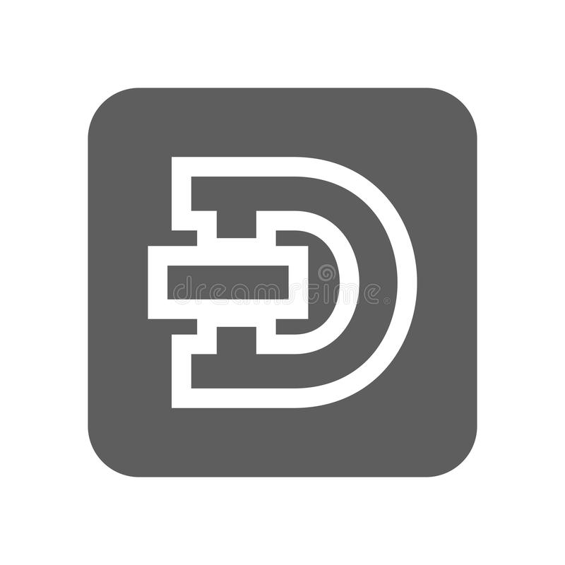 Dash crypto currency icon. Dash crypto currency isolated icon. Online financial system, electronic money, worldwide payment service illustration royalty free illustration