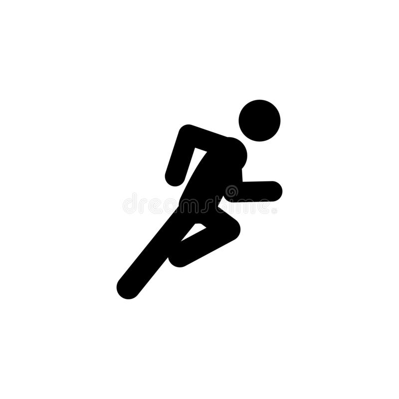 Dash, fast, run icon. Element of walking and running people icon for mobile concept and web apps. Detailed dash, fast, run icon ca. N be used for web and mobile royalty free illustration