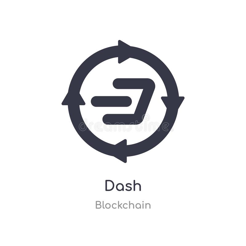 Dash icon. isolated dash icon vector illustration from blockchain collection. editable sing symbol can be use for web site and. Mobile app vector illustration