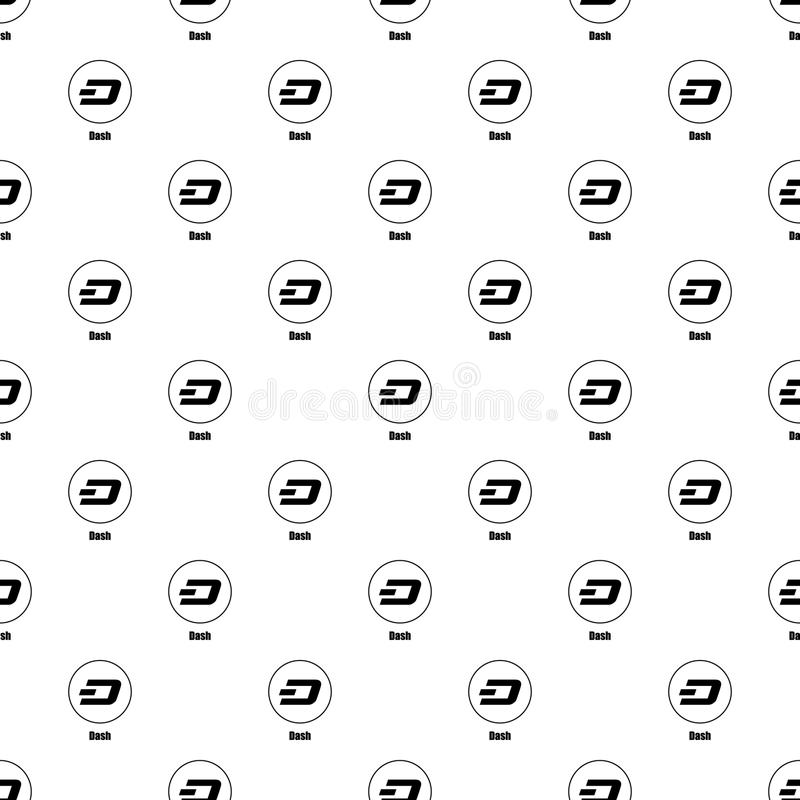 Dash icon, simple style. Dash icon. Simple illustration of dash vector icon for web royalty free illustration