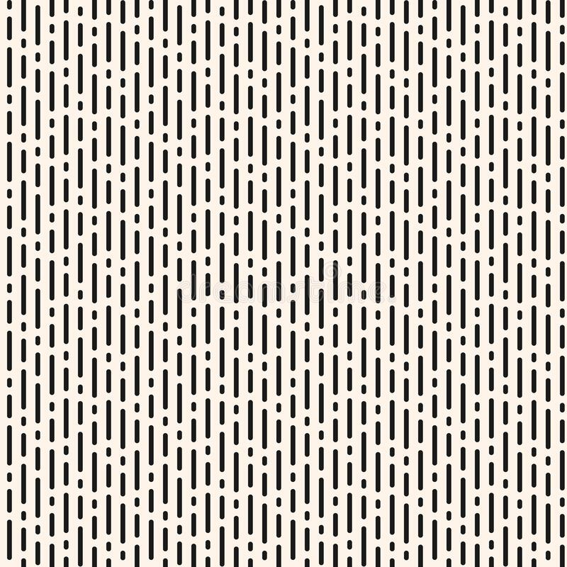 Free Dash Line Pattern. Vector Monochrome Seamless Texture With Vertical Lines Royalty Free Stock Photos - 196149608