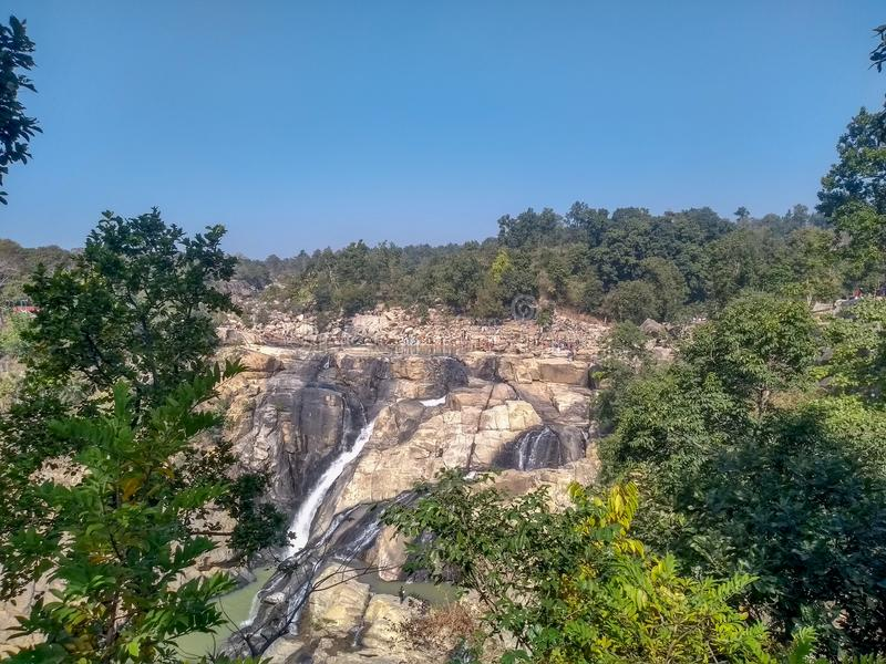 Dasham waterfall at ranchi. India, dreamstime, aky, sky, hill, mountain, rivers, mobile, photography, motorola, motog5s, trees, contrast, theme, background royalty free stock images