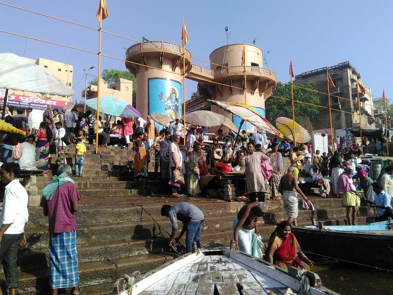 Dashashwamedh Ghat Varanasi stockbild