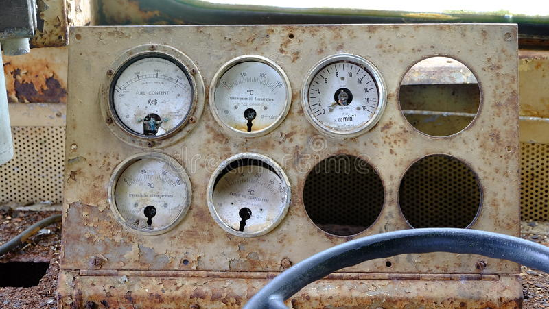 Dashboard ancient ship royalty free stock photography