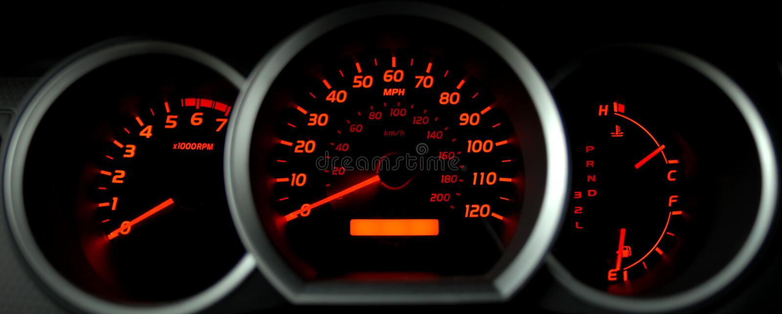 Dashboard gauges royalty free stock images