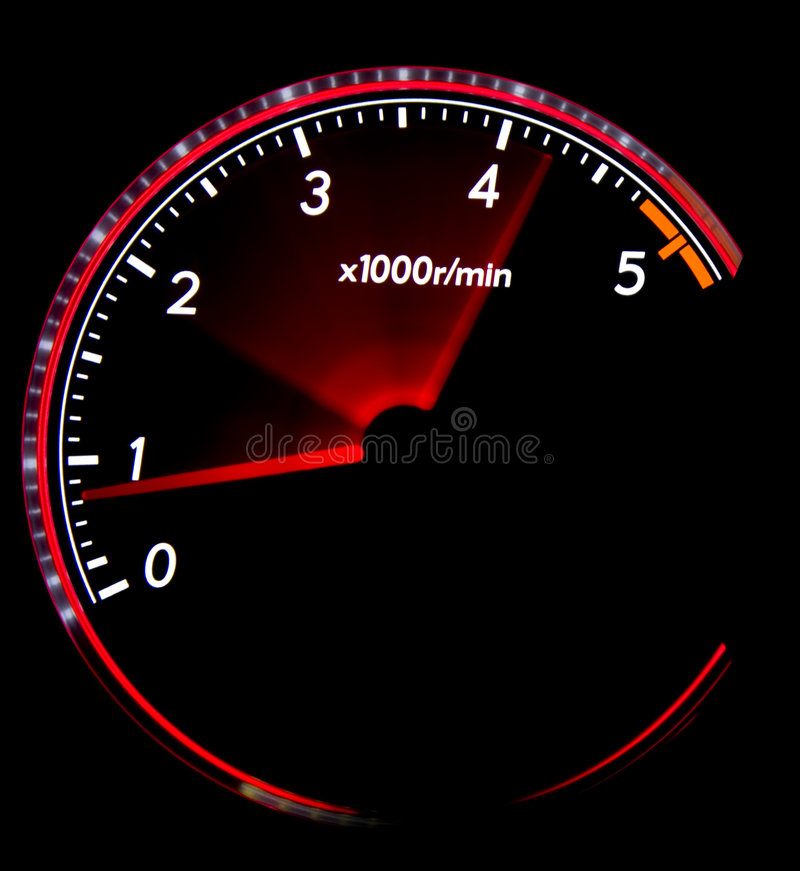 Dashboard gauges stock image