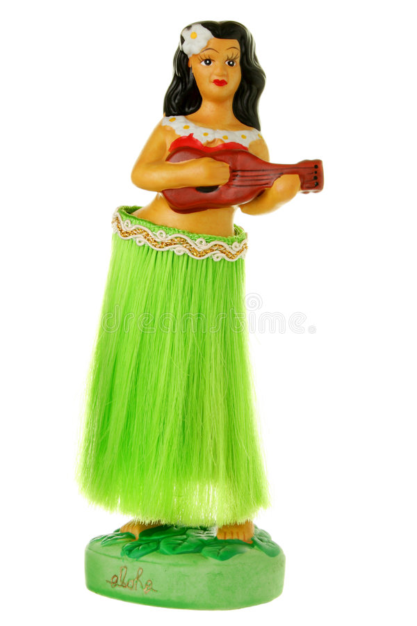 Free Dashboard Hula Doll Isolated On White Stock Photography - 7064522