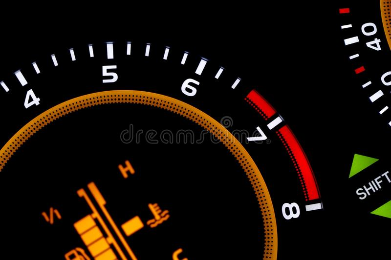 Dashboard. Instrument panel detail of a car royalty free stock photography