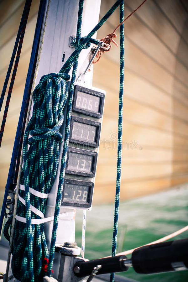 Download Dashboard Instruments On A Yacht. Stock Photo - Image: 33259338