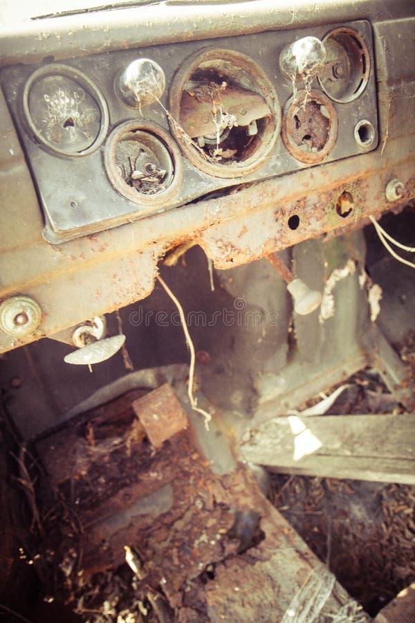 Dashboard of an car stock photo