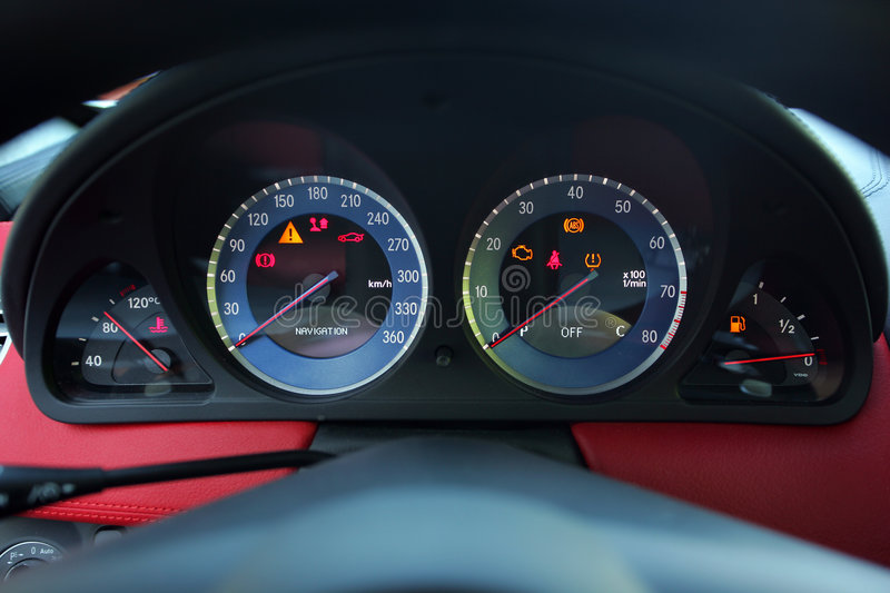 Dashboard speedometer royalty free stock photography