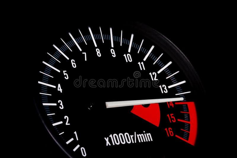 Dashboard van een sportenmotor stock afbeeldingen