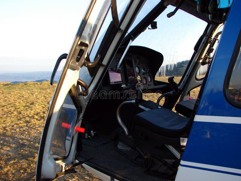 Dashboard van helikopter royalty-vrije stock afbeelding
