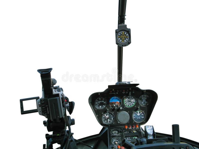 Dashboard van helikopter royalty-vrije stock foto's
