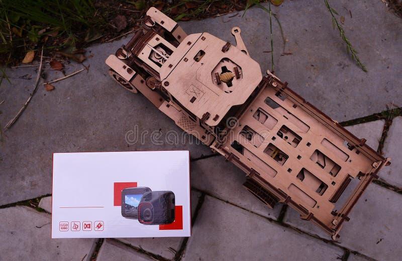 DashCam для автомобиля Пакуя устройство стоковая фотография